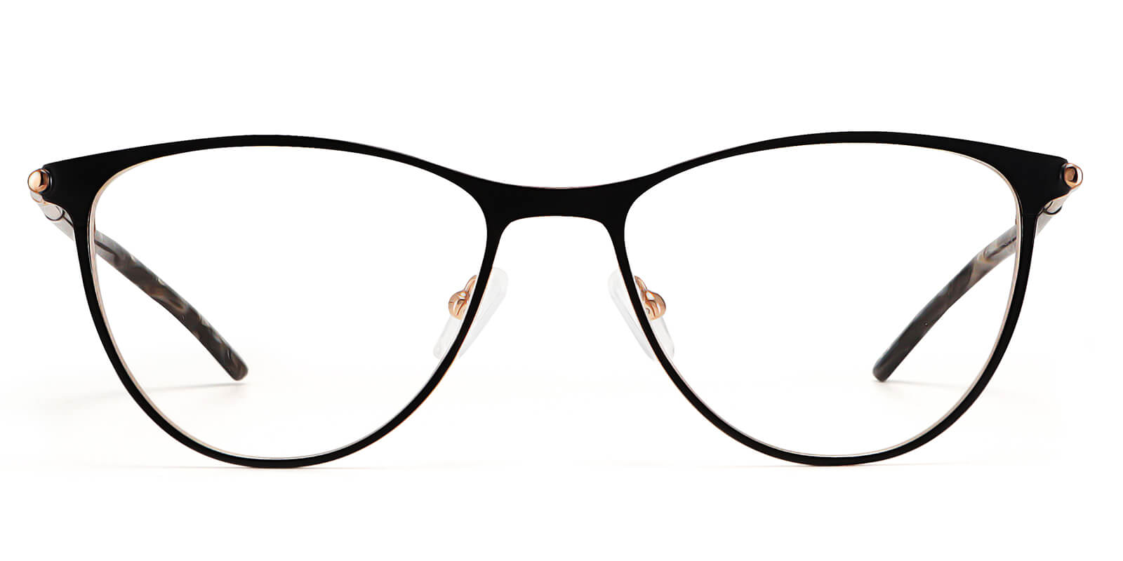 Beverly-Metal frame glasses for women two-color electroplated ultra-thin design