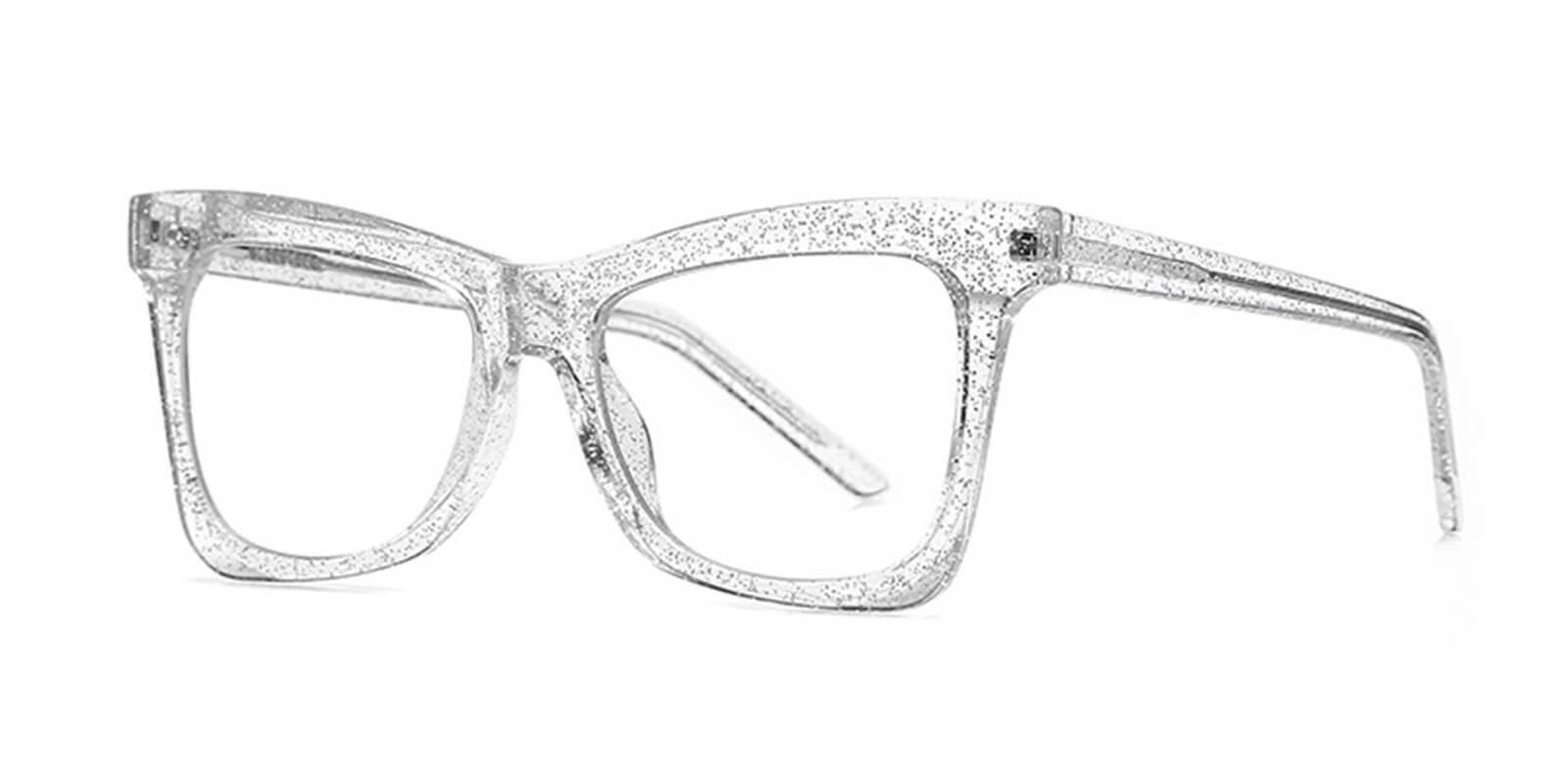 Delphine-Cat eye fashion glasses with polygonal frame design