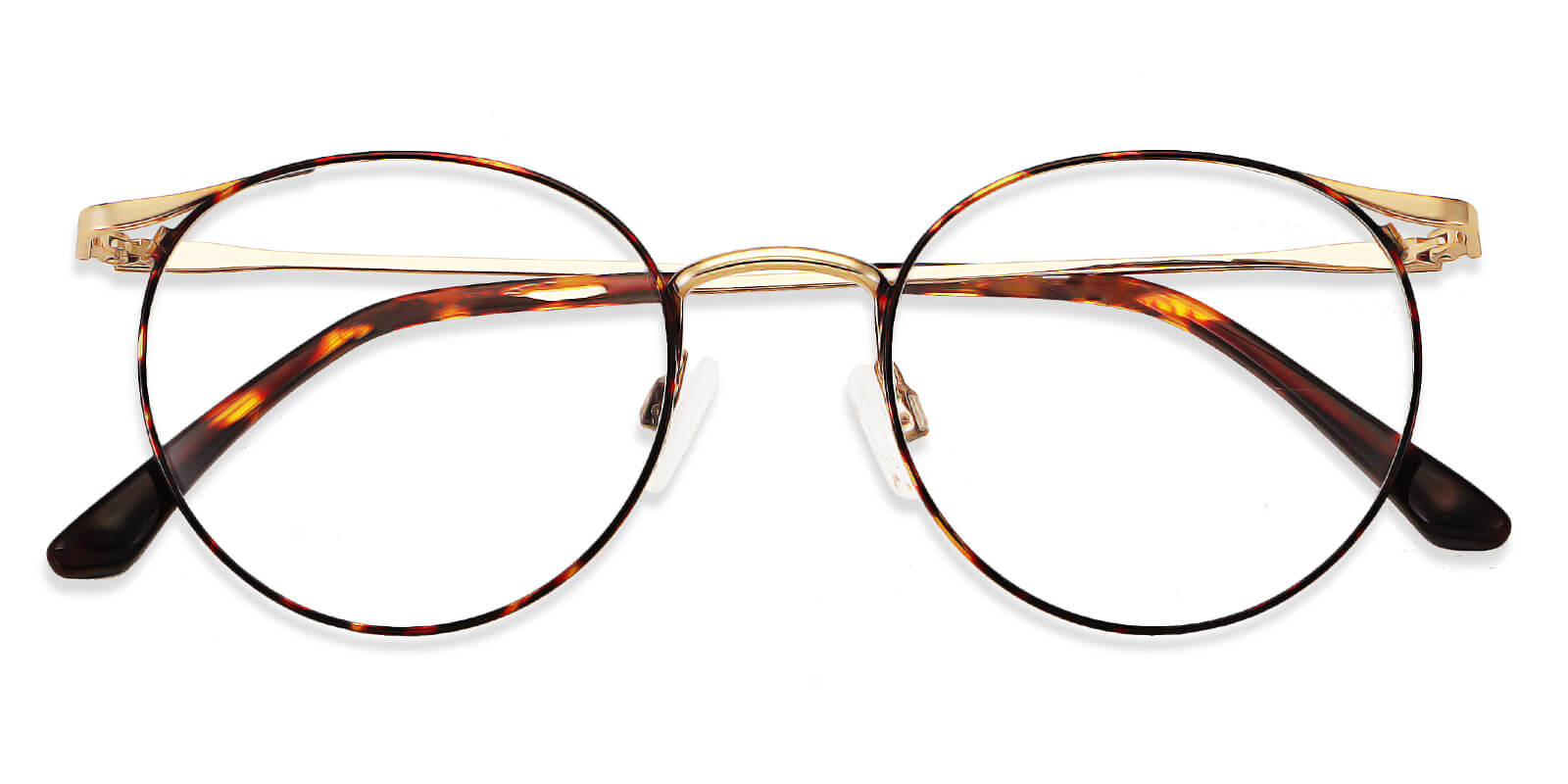 Kaz-Round glasses with metal frames for women and men