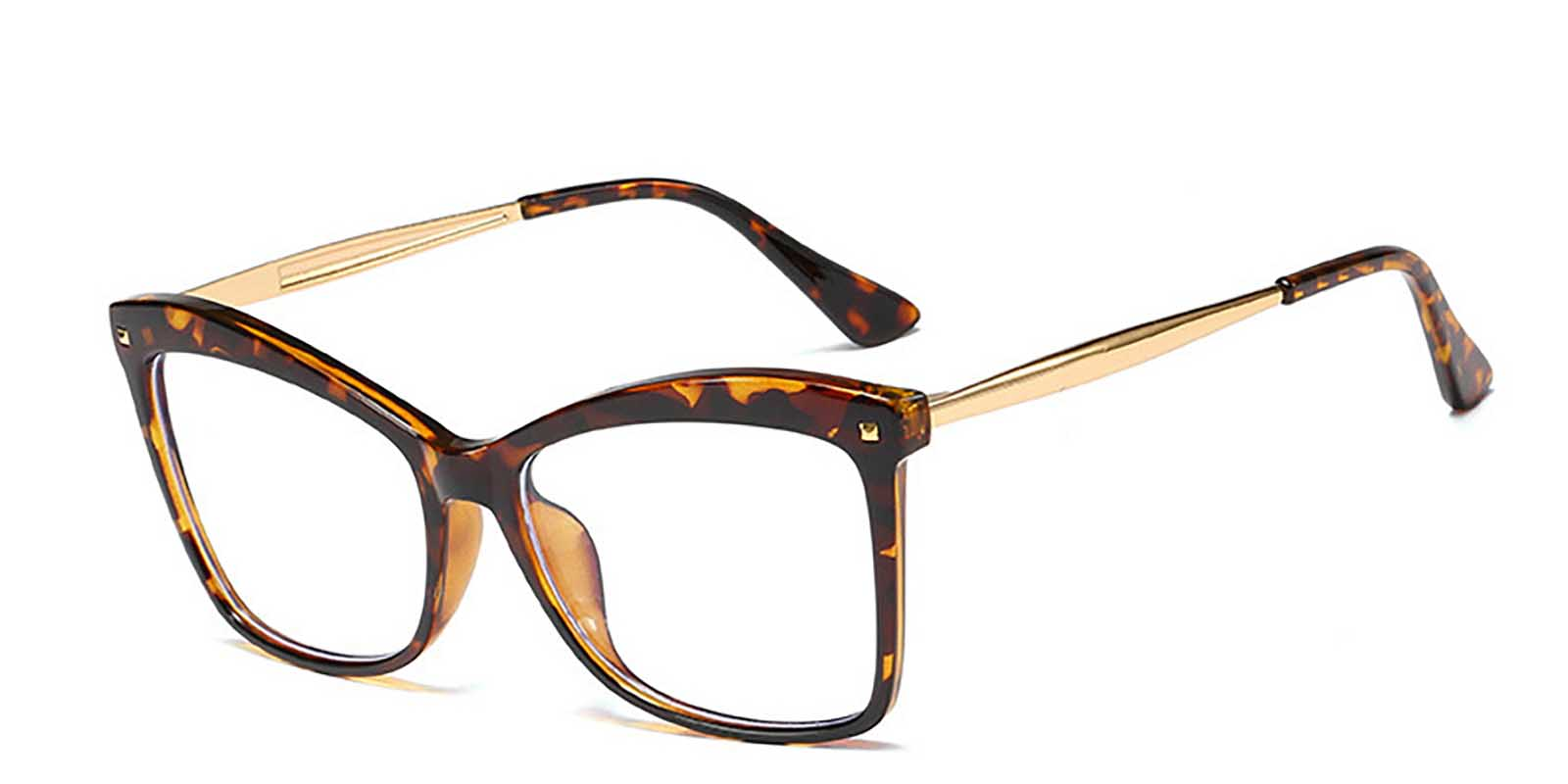 Leith-Cat eye glasses with  clear frame for women