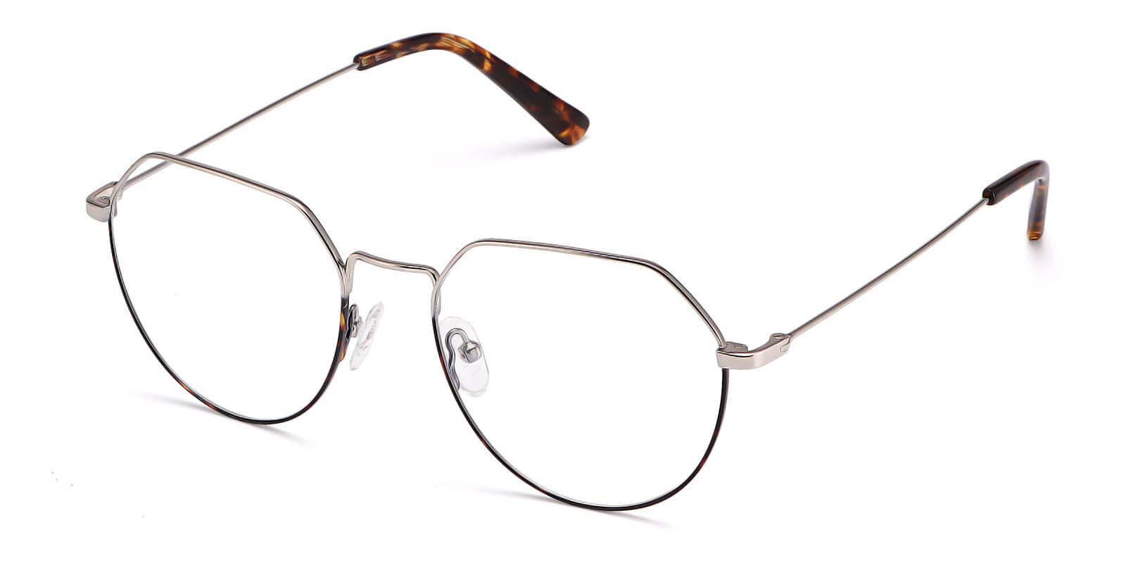 Zo-Metal glasses - lightweight metal polygonal glasses for women and men
