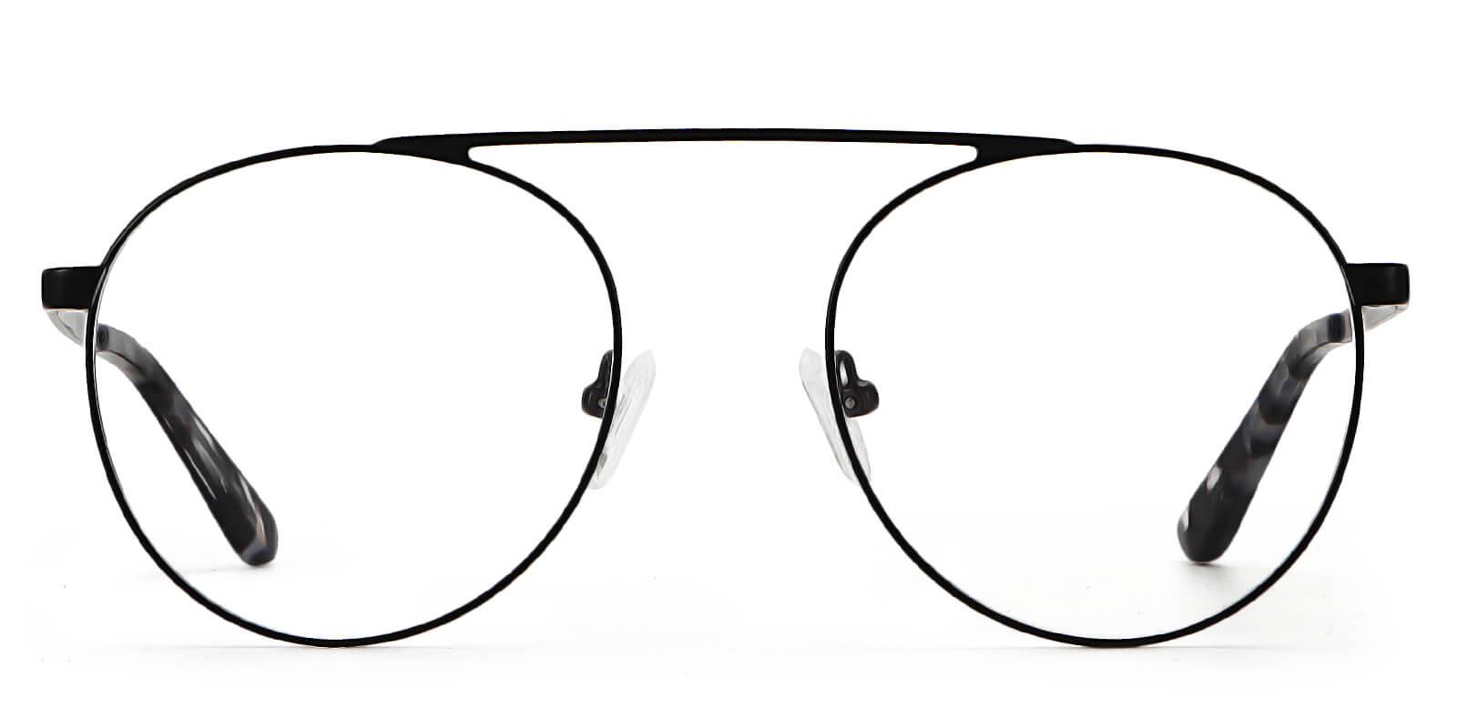 Gaetana-Aviator super-light eyeglasses with one-piece high nose bridge design
