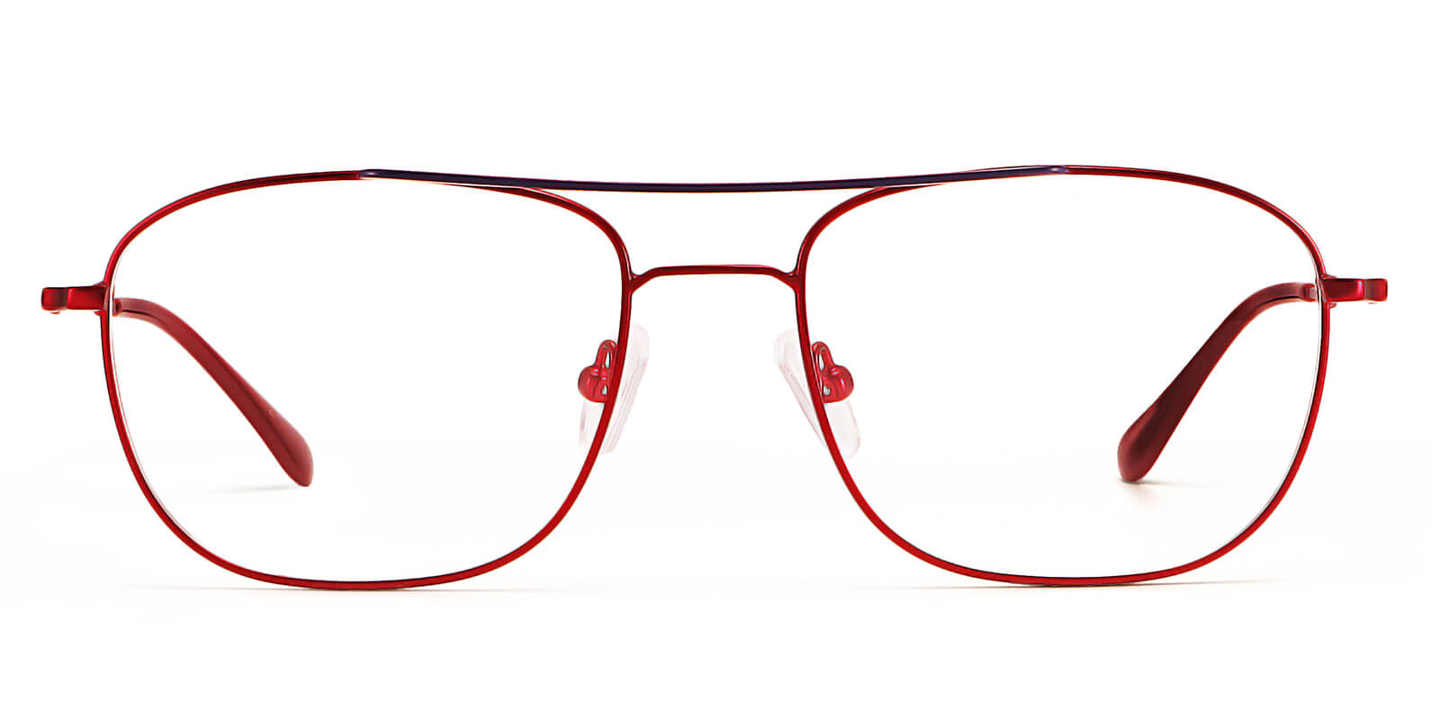 Sheer-Aviator glasses with ergonomic double-beam design