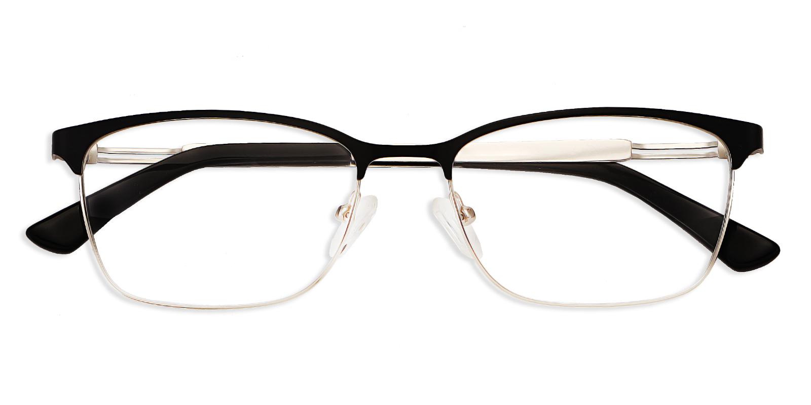 Eden-Full rim rectangle glasses with hollow hinge design