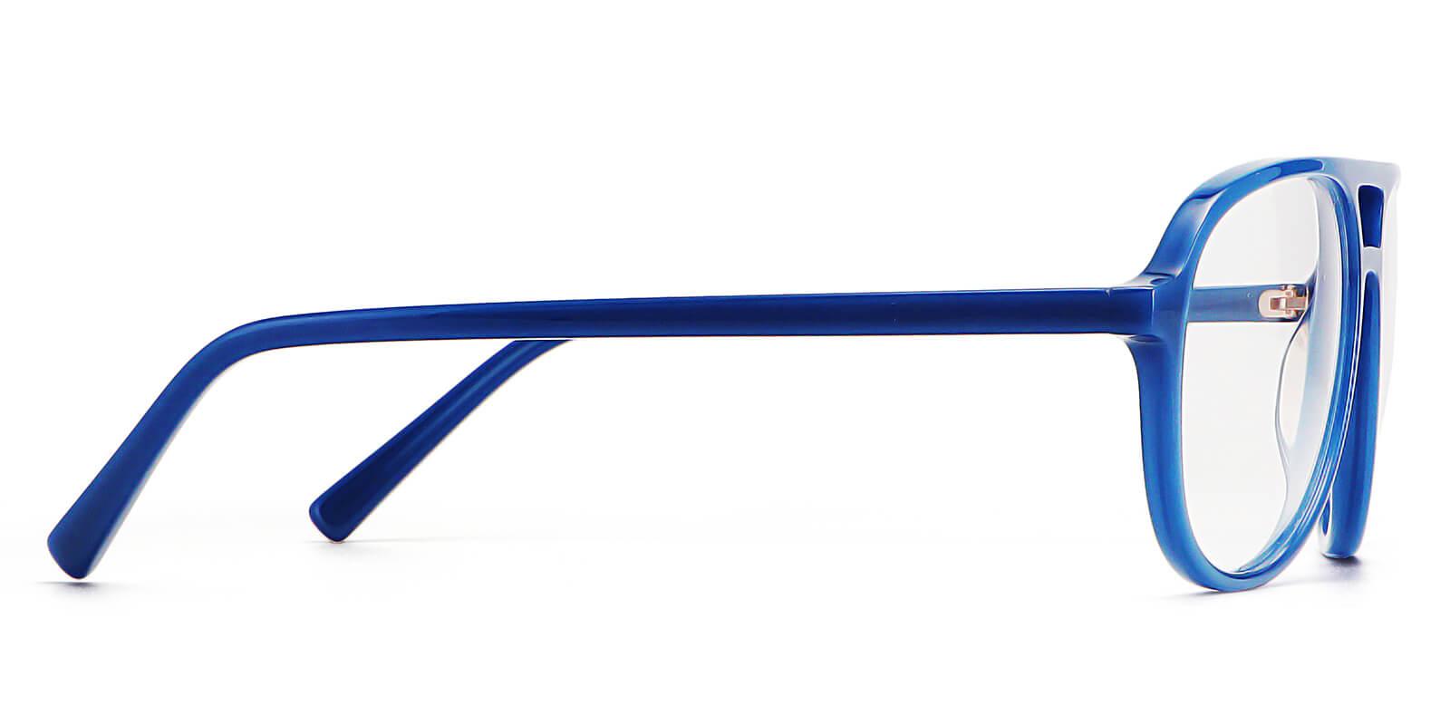 Marshal-Aquare aviator glasses : double-bridge acetate glasses