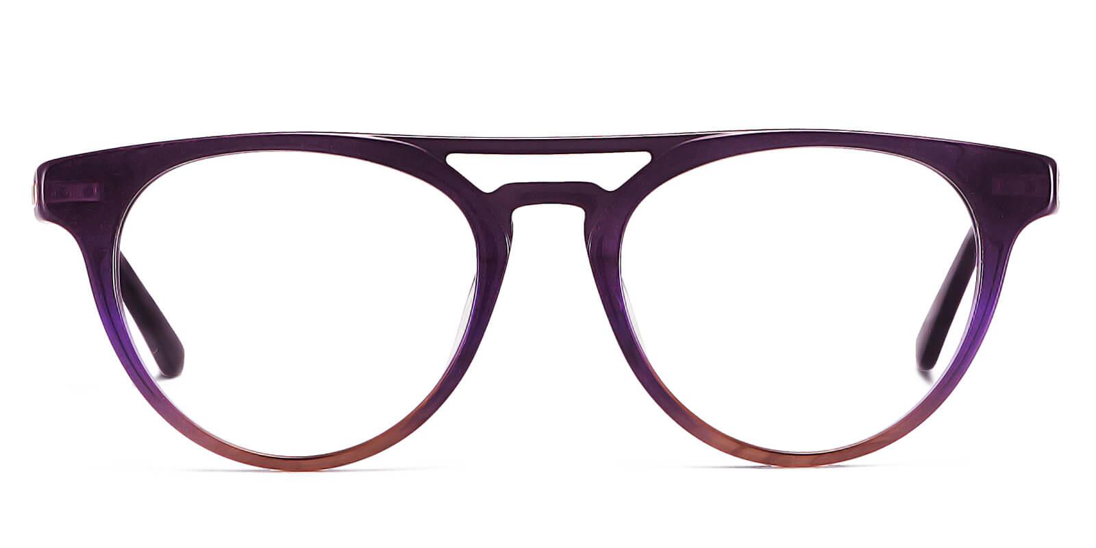 Hyatt-Hipster designer glasses : starry sky series mirror frame double bridge glasses