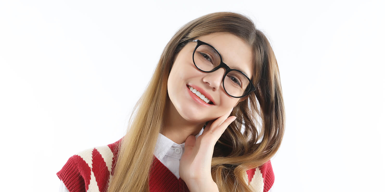Starlight-Retro round glasses with built-in spring hinge