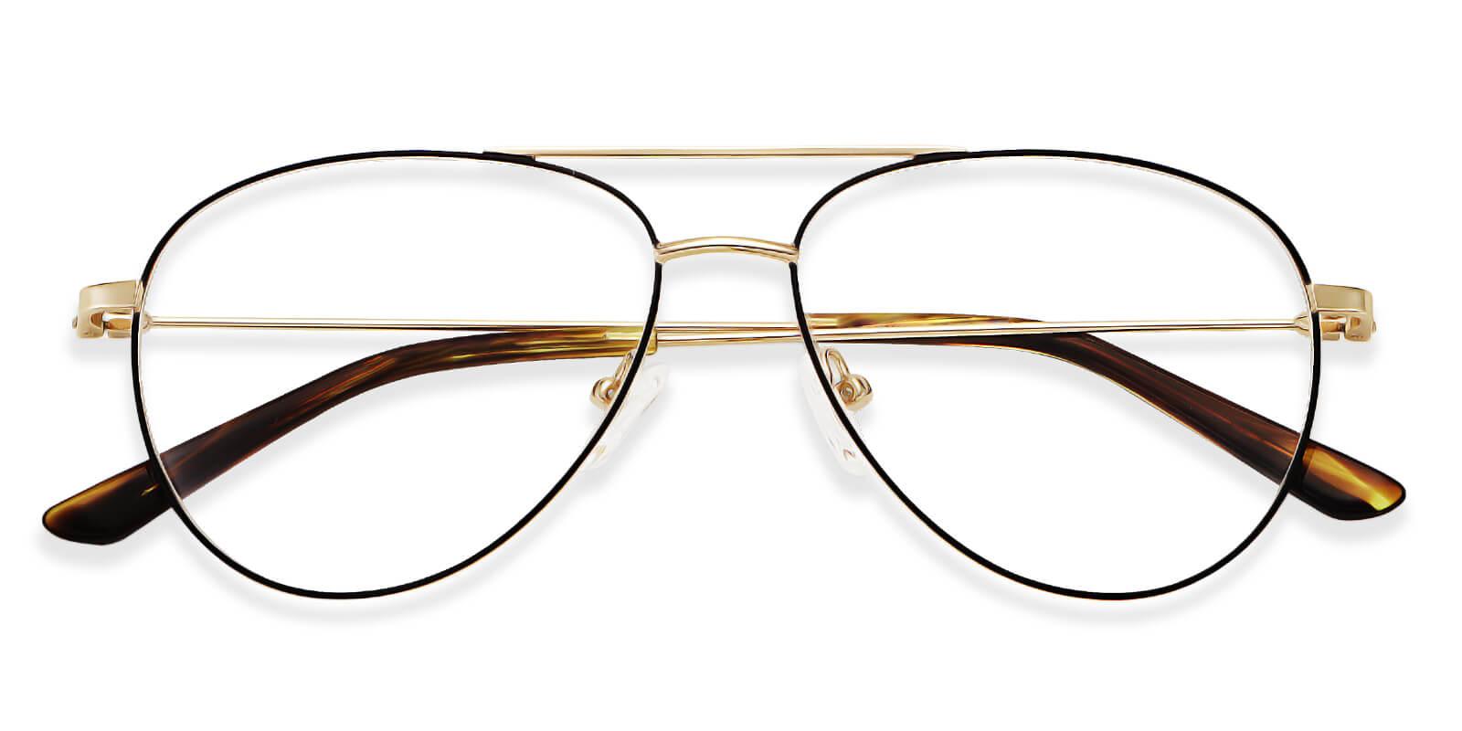 Palm-Aviator metal frame glasses for women and men